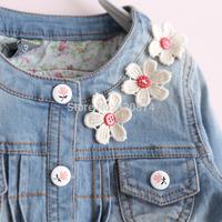 Sun fashion female child m - small flower sand denim outerwear