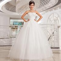 Love wedding dress 2014 new Korean version Slim diamond flower bra wedding mopping straps princess wedding dress