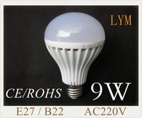 9W E27 B22 SMD5630 Epistar 14pcs nature white/ warm white 220V  led bubble ball bulb led bulbs Bulb Lamp Led Spotlight