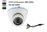 DHLEMS Free Shipping: CCTV 1/3  Panasonic 2MP CMOS HD-SDI 1080P Full Lens 4MM 2MP Waterproof outdoor SDI  IR Dome  Camera