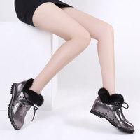 2014 female botas de inverno autumn winter women's shoes brand Elevator shoes PU leather boots stylish rabbit fur and rivets