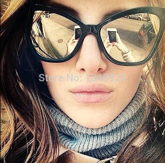 HOT!!!!Free 2014 CH5271 Sunglasses sheets Ms. RETRO SUNGLASSES mercury surface reflective Brand glasses. Fashion. glasses(China (Mainland))