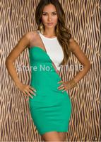 Hot sale gauze lace patchwork dresses women vestidos sheath mini dress 3 colors