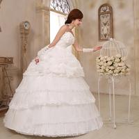Love Korean wedding flowers Korean bow bride wedding 2014 new sweet princess wedding dress