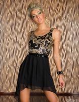 New women casual dress sequin print dresses sleeveless vestidos plus size M XL XXL