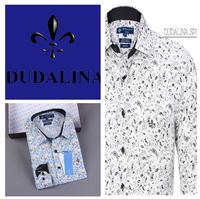 2014 polo camisa masculina shirt camisa DUDALINA roupas casual men male imported clothing xadrez blusa masculina  99