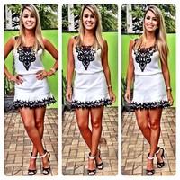 022#2014 summer new hook flower stitching Chiffon Dress Chiffon bodycon dress Frozen dress
