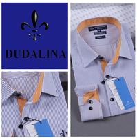 2014 polo camisa masculina shirt camisa DUDALINA roupas casual men male imported clothing xadrez blusa masculina  2017