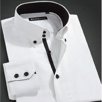 New 2014 Men'S Long Sleeve Brand Dress Shirts Slim Fit Commercial Shirts Casual Cotton Tuxedo Shirt Men'S Shirt XG8-222