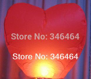 Free Shipping Wishing Balloon 10pcs/lot RED heart Sky Lanterns,Wishing Lamp China Kongming LANTERN BIRTHDAY WEDDING PARTY(China (Mainland))