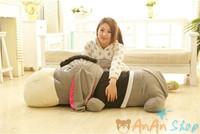 New Cute Stuffed Animal Doll 43'' 1.1m Big Huge Plush Donkey Soft Toy Good Quality Hold Pillow Birthday Christmas Gift 3002