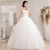 Love wedding dress 2014 new Korean version luxury diamond sequins Bra mopping straps princess wedding dress