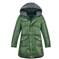 Mitch male child medium-long double front fly child down coat child winter coat