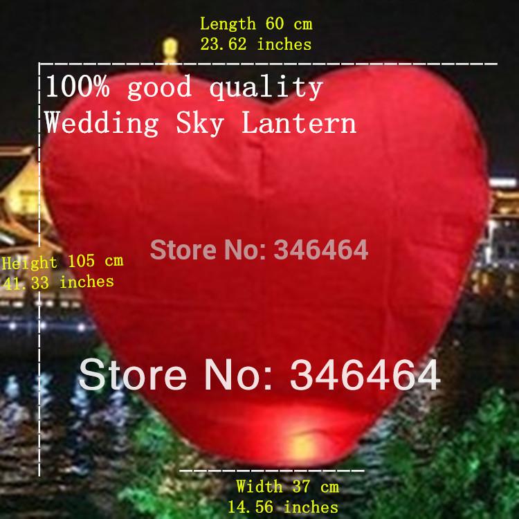 Free Shipping Wholesale 20pcs/lot Red Heart Shaped Chinese Sky Lantern & Wishing Lanterns & Kongming Lanterns Weddings(China (Mainland))