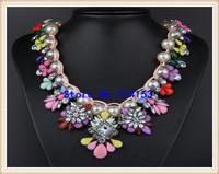 Shourouk Inspired Pearl Statement Bib Necklace