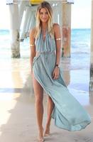 Free shipping Fashion sexy strap dress beach dress floor dress EJ2155