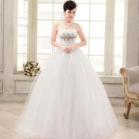 Love wedding dress 2014 new luxury diamond bra wedding Korean version was thin straps princess wedding dress