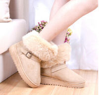 2014 new fashion imitation fox fur boots women's boots shoes free shipping