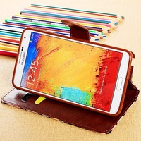 2014 New  cell phone cases floral color printing wallet card slots stand flip leather case cover skin shell for galaxy S5 i9600