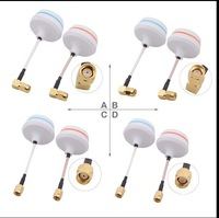 5.8G Circular Polarized FPV Antenna Set TX-SMA/RX-SMA for RC Airplanes Helicopters