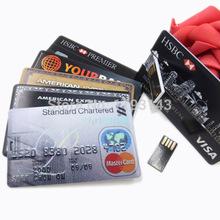 64GB/32GB/16GB/8GB/4GB/1GB Bank Credit Card Shape USB Flash Drive Pen Drive Funny Memory Flash Stick,Drop Shipping+Free Shipping(China (Mainland))