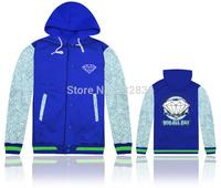 2014 Top brand diamond jackets hooded long sleeve hip hop mens cotton winter clothing fashion sportswear men Outerwear & Coats