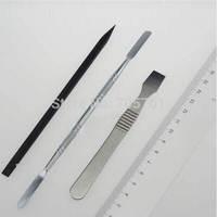 Great-shop 3 Pcs Metal & Plastic Spudger Set Repair Opening Pry Tool for Apple iPad iPhone