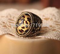 Promotion! Wholesale! Fashion female jewelry vintage acrylic leopard print alloy ring SR332