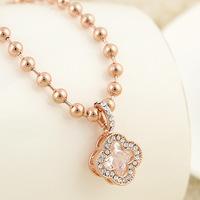 Fashion selling han edition zircon flower necklace Ms gilt collar bone chain accessories jewelry