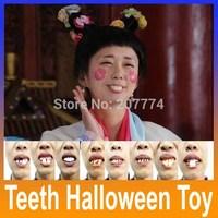 2014 Trick Toys Halloween Toy Props Wacky Funny Denture Vampire Dentures Vampire Teeth 5pcs/lot
