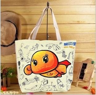 Women Handbag New 2014 Fashion Casual Women Woven Canvas Bag Cute Cat Shopping Bag Office Lady Lunch Bag 7 Colors Freeshipping(China (Mainland))