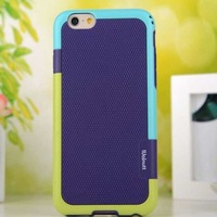 "2014 New Korea walnutt High quality Double colors PC TPU Cell phone cases For iphone 6 6G 4.7"" Soft shell Hard Cover Cases"