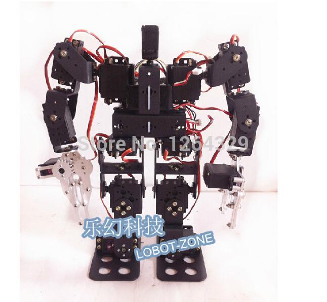 15DOF humanoid robot feet/walking robot A full set of servos stent accessories+2PCS robot metal mechanical claws(China (Mainland))