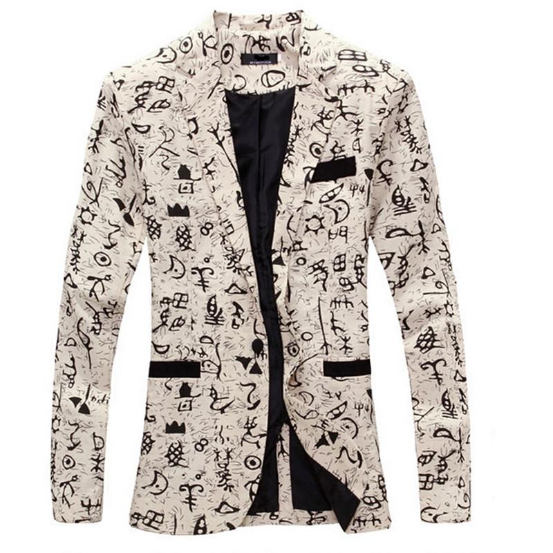9 color M-XXL men blazer slim fit 2014 suit men Cotton and linen flower cloth color matching leisure jacket men suit(China (Mainland))