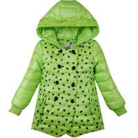 Mitch 2014 female child medium-long child down coat winter coat girl