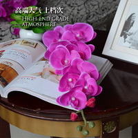 hot selling good quanlity new Glue phalaenopsis artificial silk flower single dining table flower floor decoration big flower