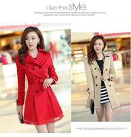 Hot 2014 new fashion Korean coat, long section of thin cardigan coat free shipping