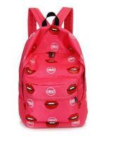HOT! Original Design sexy lip printing Backpack women and Men's backpacks Students School Bag Travel Bags