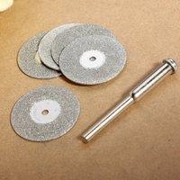 10PCS 20mm Emery Mini Diamond Cutting Discs Drill Bit + 2 Mandrel for Dremel Free shipping high quality