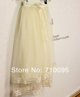 5pieces/lot, Kids Girls Long Lace Skirts, 3-10years, A-bg30