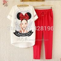 2014 Hot novelty bow loose two-piece chiffon shirt pantyhose