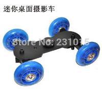 Hot Mini Desktop Camera Rail Car Table Dolly Car Video Slider Track DSLR For canon 60d 5D2 7D free shipping
