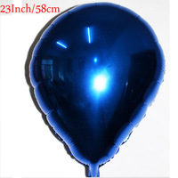 23 Inch BLUE Droplets Shaped  Foil Balloons Birthday Valentine Day Wedding Party Decoration Free Shipping