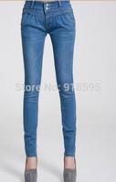 New 2014 Autumn Women's Jeans Fashion Casual Women Harem Jeans Free Shipping Promotion Deep Blue / Light blue
