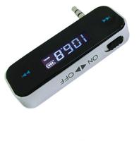 Wireless 3.5mm In-Car Handsfree Car Kit Music Radio MP3 FM Transmitter For iPod iPad iPhone 4 4S 5 Galaxy S2 S3 HTC ~1 TK1383