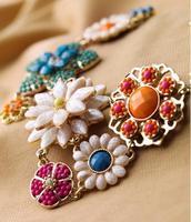 New Arrival IMIXLOT Pendant Necklace Vintage Mixed Colors Exquisite Flower Pendant Short  Necklace  New Arrival JN06198