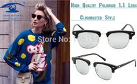 New Design Retro Vintage Round Clubmaster Sunglasses Polarized oculos de sol feminino Outdoors 08132
