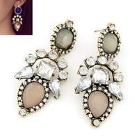 Min Order 10USD Europea Fashion Bling Stone Crystal Earring Women Stud Earring