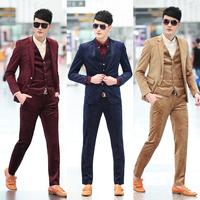 2014 Autumn brand new men's velour blazer slim fit suit men emberiodery print fabric fashion design quality 3xl
