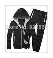2014 men's sports suits men suits men clothing brand sweater coat jacket plus pants tracksuits sportswear men